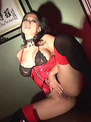 Gianna lynn masturbating in sexy satin lingerie and heels