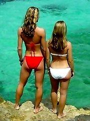 young teen boobs under the summer sun!