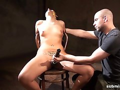 Submissed.com Curvy babe is bound, stripped and vibed