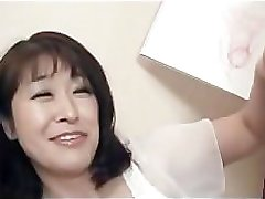 50 yr old mature Agaki Oda loves cock