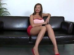 Long legs and big bra-stuffers. Donna Bell