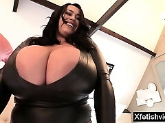 Big tits sex industry star latex with cumshot