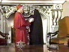 Retro Fellatio Creampie with Nun