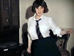 WHOLE LOTTA ROSIE - antique big tits schoolgirl strip dance