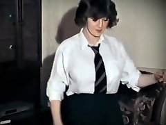 WHOLE LOTTA ROSIE - vintage ample tits schoolgirl strip dance
