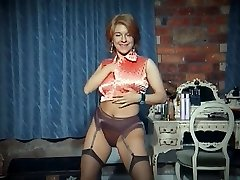 QUEER - vintage big tits strip dance taunt in stockings