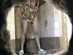 Russian Public Toilet Spy Cam - Retro Voyeur 01