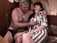 Vintage French sex movie with a mature hairy couple