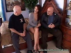 Horny Housewife Gets Pummeled By Total Strange Men Swinging