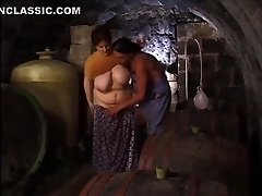 fucking my plus-size in the cellar
