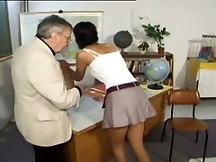 CMNF - Punished and slapped by her teacher (vintage)