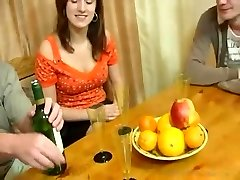 Swingers in hot old vs. young group lovemaking