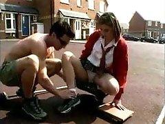Brit Schoolgirl Likes Older Man