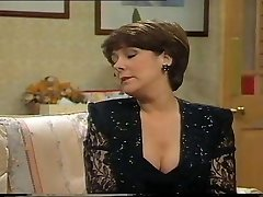 Lynda Bellingham Sexy Dark-hued Dress