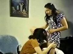 Stool Retro Lesbian Shared Dildo