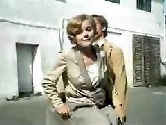 RARE 1980 polish movie spanking scene in milky satin panties
