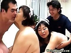 Weird asian grandmas behaving badly
