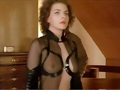 German female dom babe dominates a man in a suit