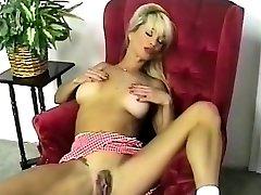 HOT Busty Blonde Striptease and Finger-tickling 2016