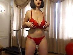 Slutty sexy history teacher on webcam