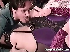 Pregnant mom gargles many rigid cocks part5