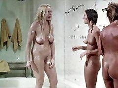 Shower scene from.  Prison Dolls,  vintage