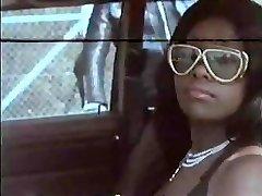 Vintage vid with this ebony babe getting gangbanged hard