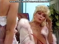 Busty mature classical blonde star gives a hot vintage blowjob