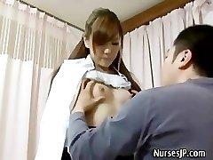 Patient visiting woman asian medic