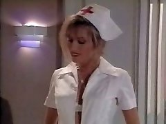 Vintage nurse scene. Ejaculates on her feet