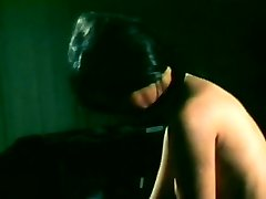 Vintage black-haired gets her fur covered pussy finger fucked and drilled hard