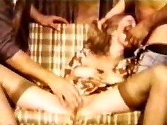 Platinum-blonde Babe DP Vintage Loop