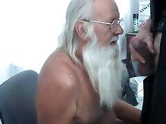 Dad Santa Paul Eats Breakfast