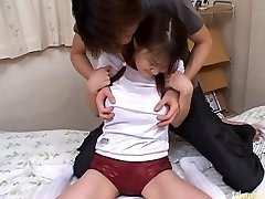 Risa Hano Asian model drills two horny guys