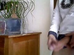 webcam boy with big cock jerking off