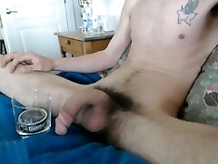 Jacking off With Copenhagen Dip Spit