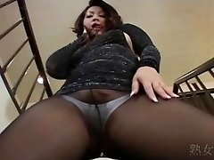 Yuuka Fujisaki Pantyhose Upskirt