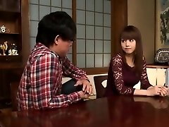 Asian Brother and Pals Pulverize Beauty Sister at Home