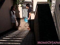 Japanese mom cheats and gets face nailed