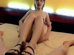 Korean Girl foot insert. Suck & Fuck, Face cum