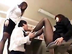 Worshipping Nylon Covered Japanese Feet
