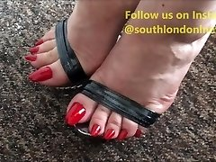 Long Toenails Footjob, Feet Pulverizing, Handjob of Woman Lev