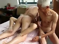 Extraordinaire Homemade video with Threeway, Grannies scenes