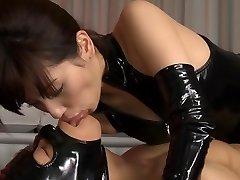 Horny Japanese bi-atch Miyuki Yokoyama in Best fetish, latex JAV vignette