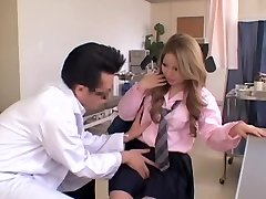 Chubby Asian gets some action during her Gyno exam