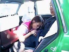 Horny Asian girl Hime Orihara in Incredible Blowjob, Car JAV clip
