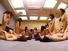 Asian College Girls Lesbian Orgy