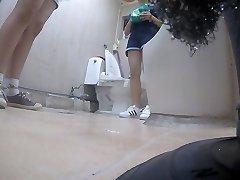 Korean woman using toilet part 5