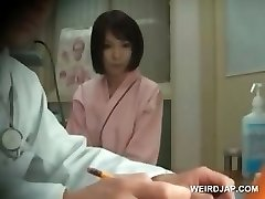 Ginger-haired asian sweetheart gets boobs checked at doctor