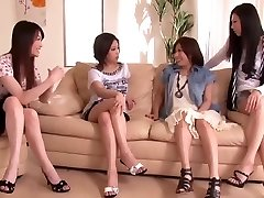 Japanese Penis Shared by Gang of Horny Ladies 1